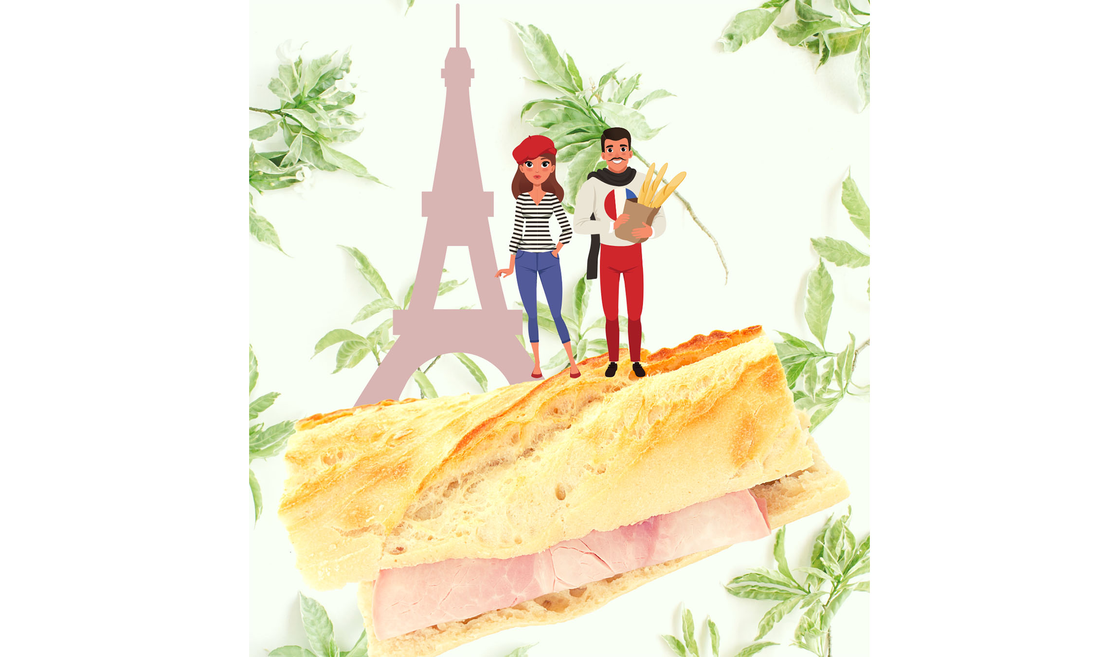 Photo sandwich jambon beurre à Paris